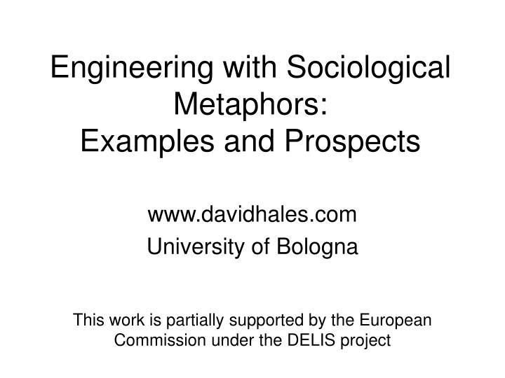 Engineering with Sociological Metaphors: