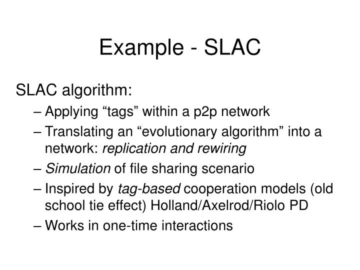Example - SLAC