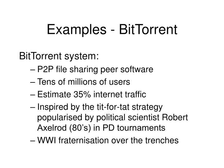 Examples - BitTorrent