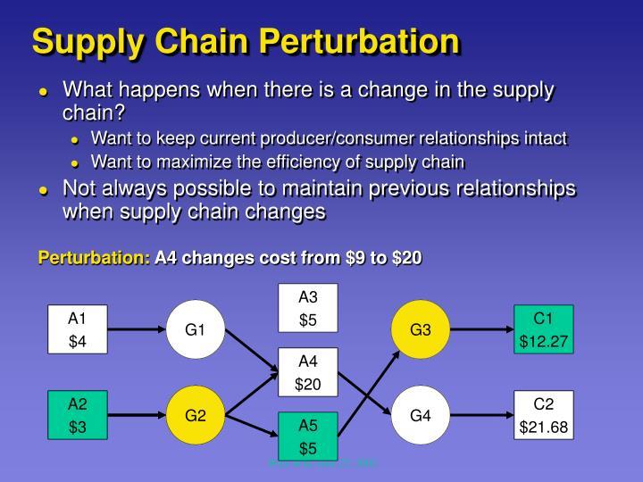 Supply Chain Perturbation