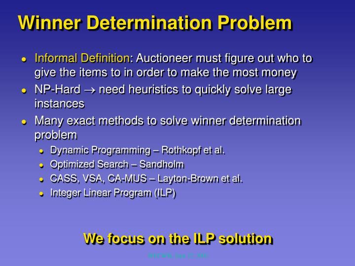 Winner Determination Problem