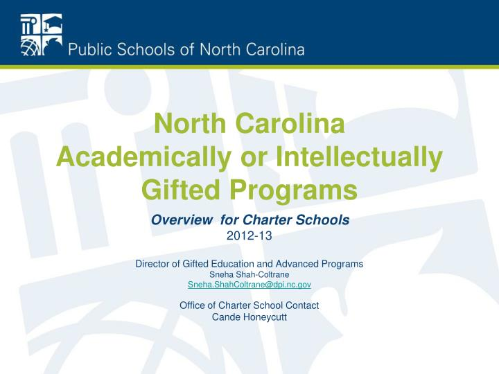 North carolina academically or intellectually gifted programs