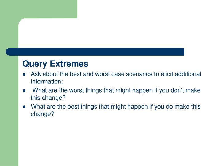 Query Extremes