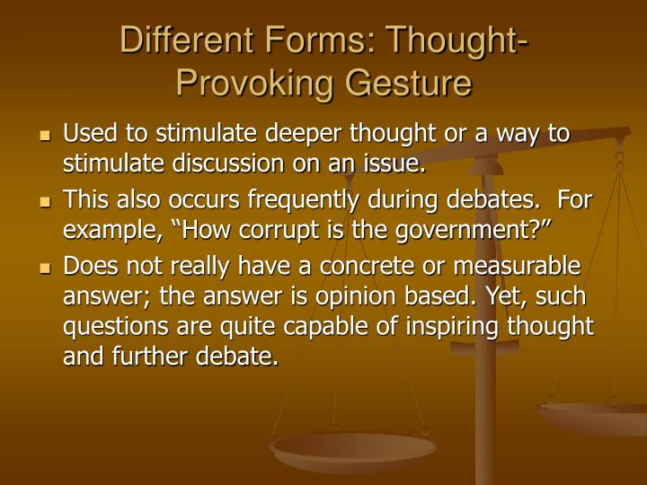 Different Forms: Thought-Provoking Gesture