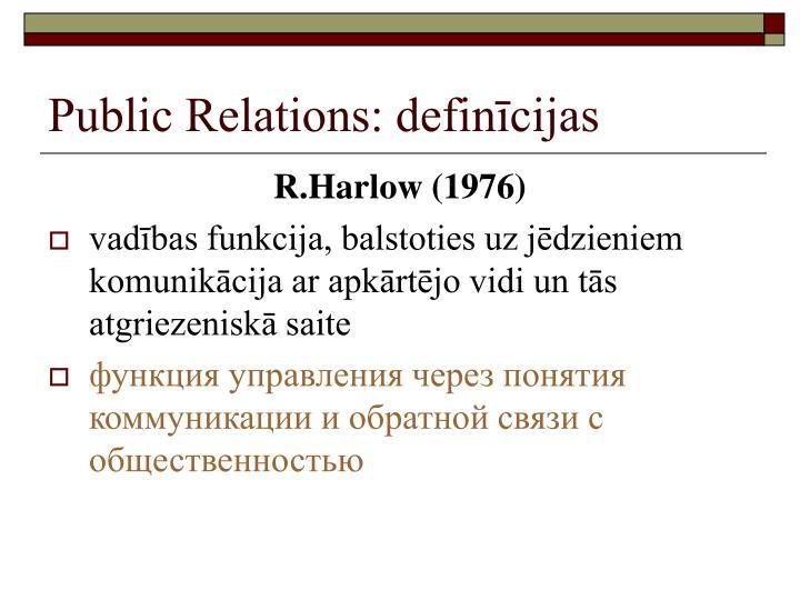 Public Relations: definīcijas