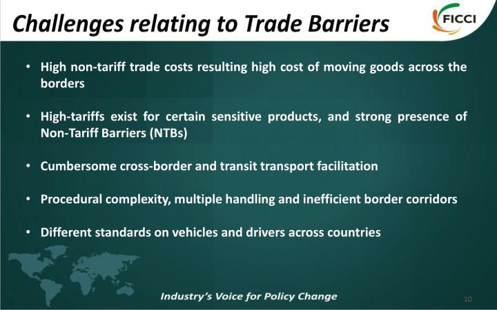 Challenges relating to Trade Barriers