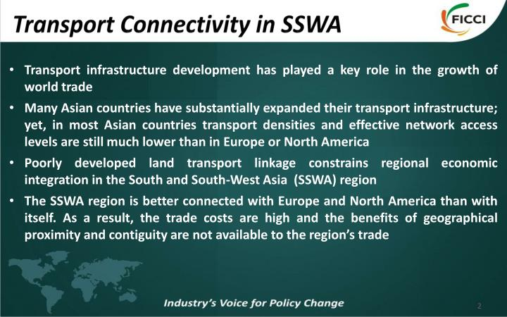Transport connectivity in sswa