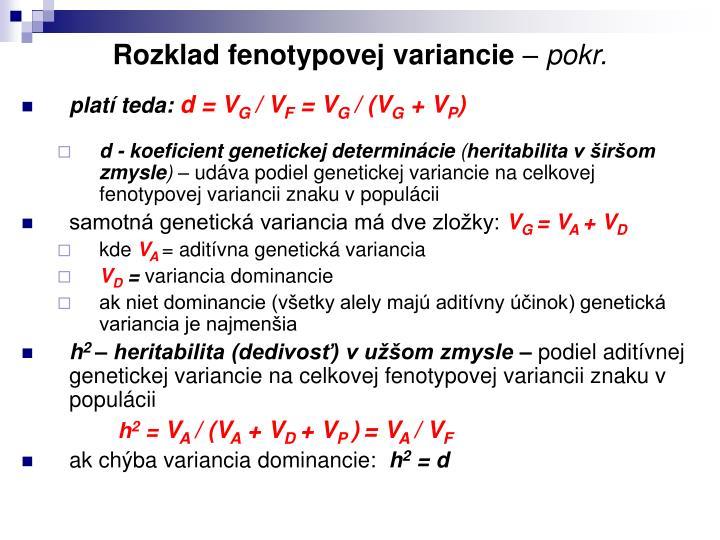 Rozklad fenotypovej variancie