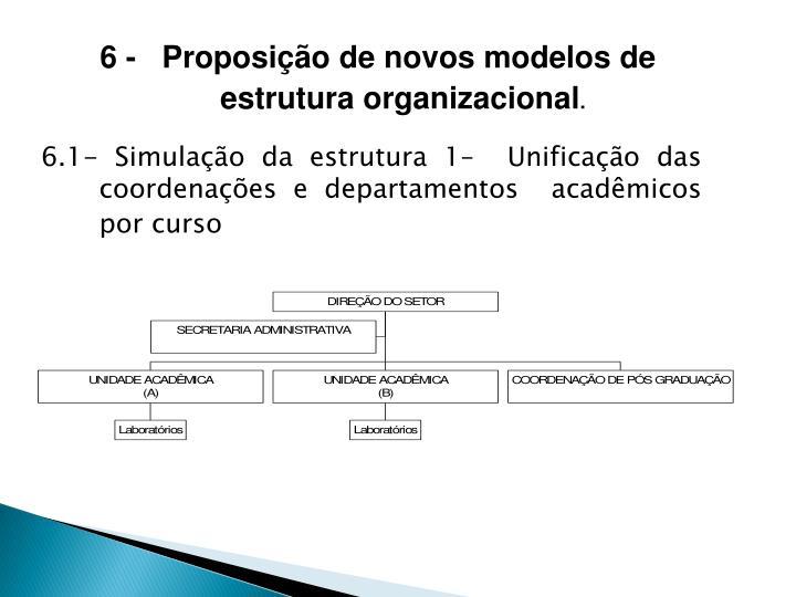 6 -   Proposição de novos modelos de estrutura organizacional