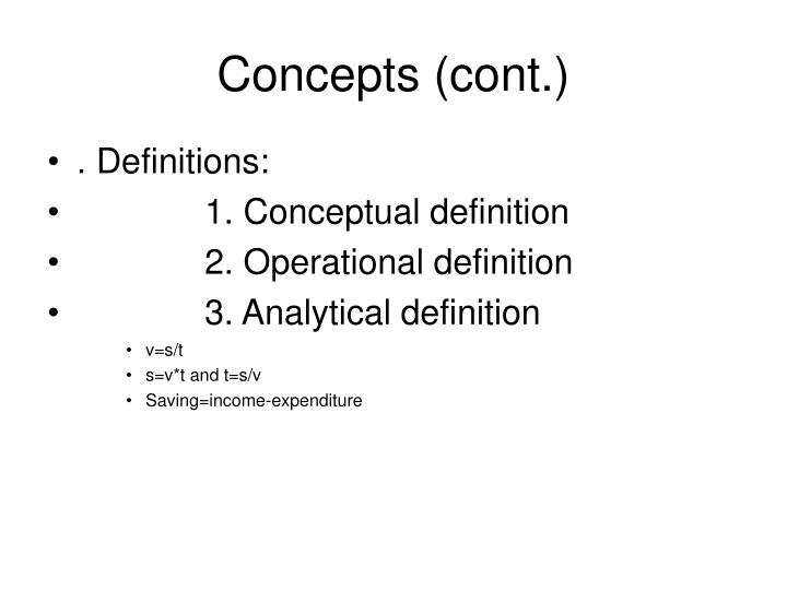 Concepts (cont.)
