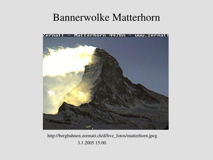 Bannerwolke Matterhorn