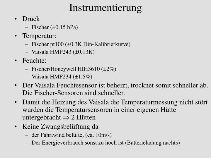 Instrumentierung