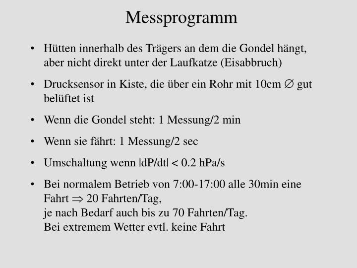 Messprogramm