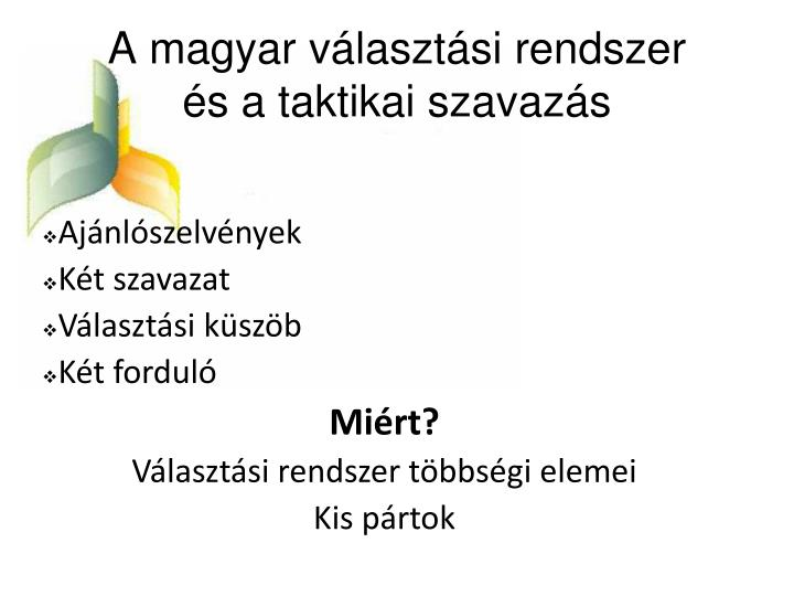 A magyar választási rendszer