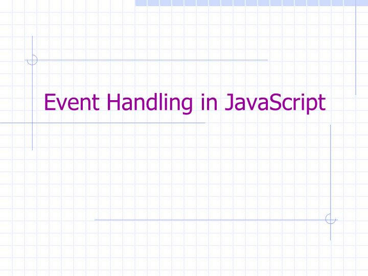 Event handling in javascript
