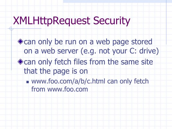 XMLHttpRequest Security