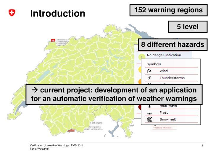 152 warning regions