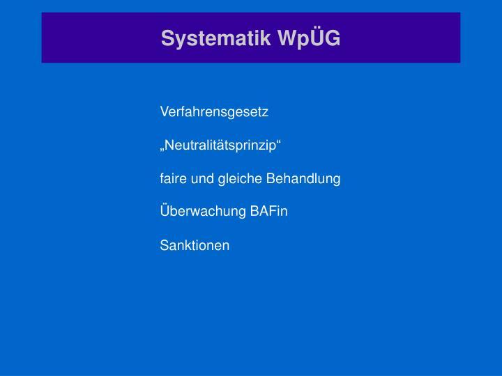 Systematik WpÜG