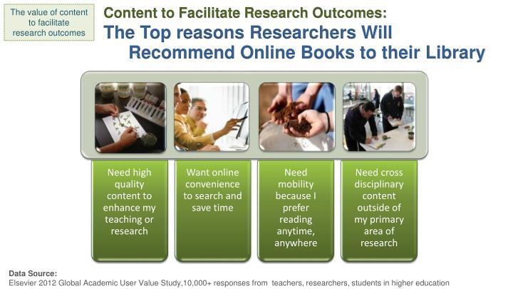 Content to Facilitate Research Outcomes: