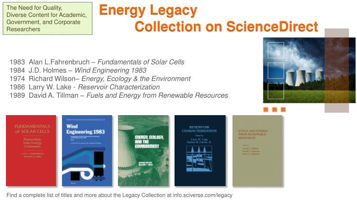 Energy Legacy