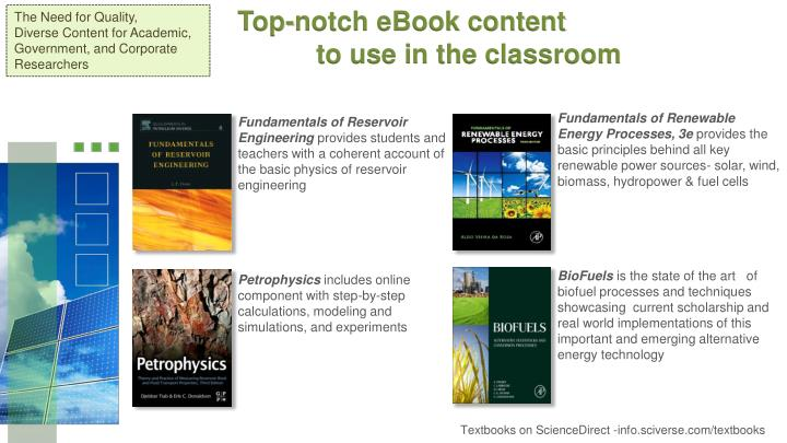 Top-notch eBook content