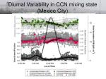 diurnal variability in ccn mixing state mexico city1