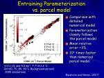 entraining parameterization vs parcel model