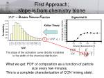 first approach slope is from chemistry alone