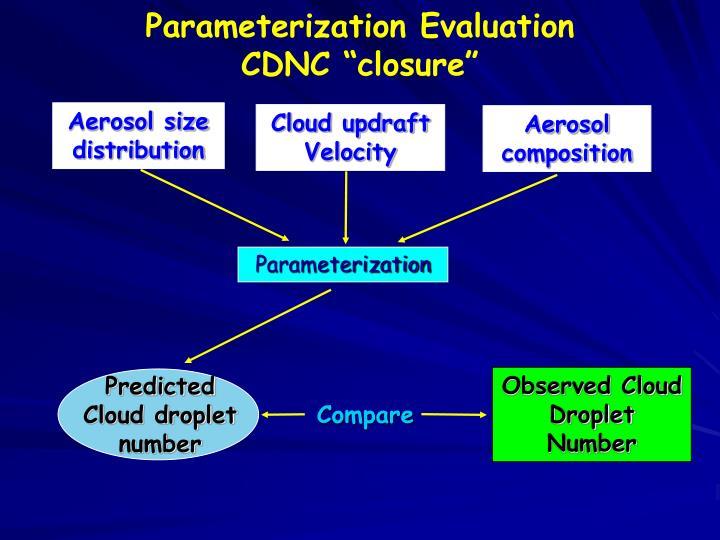 Parameterization Evaluation