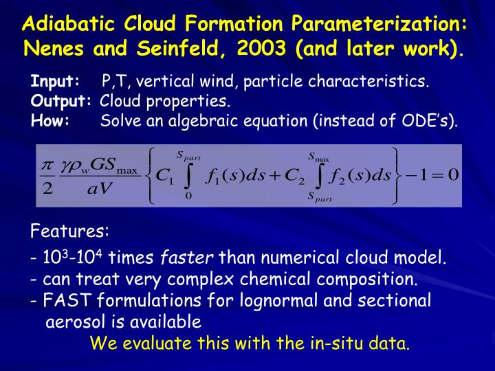 Adiabatic Cloud Formation Parameterization: