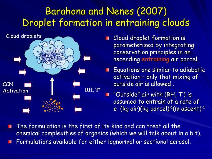 Barahona and Nenes (2007)