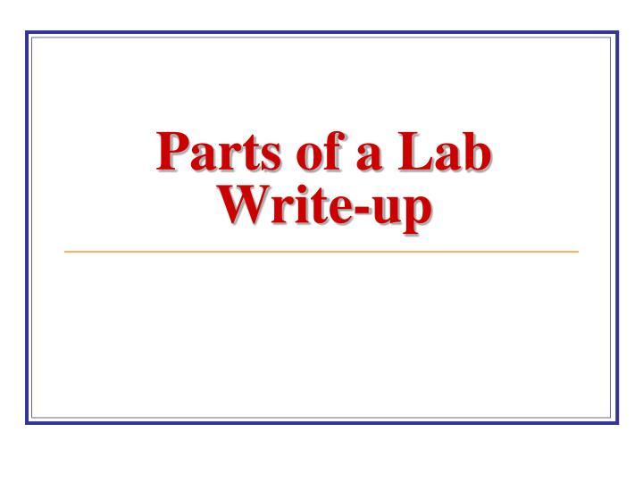 lab write up Define write-up: a written account especially : a flattering article.