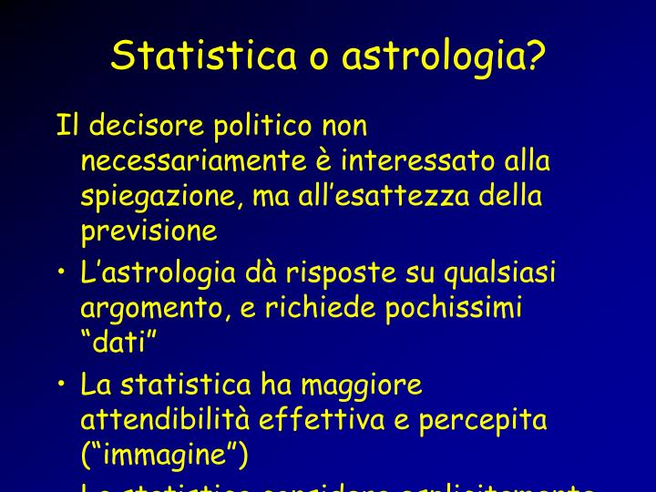 Statistica o astrologia?