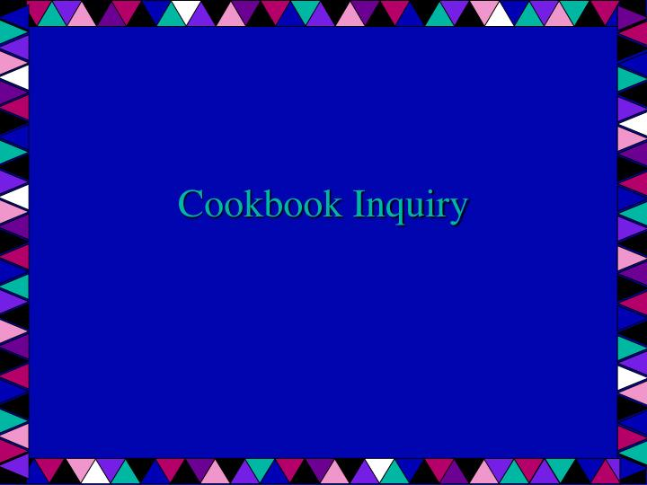cookbook inquiry