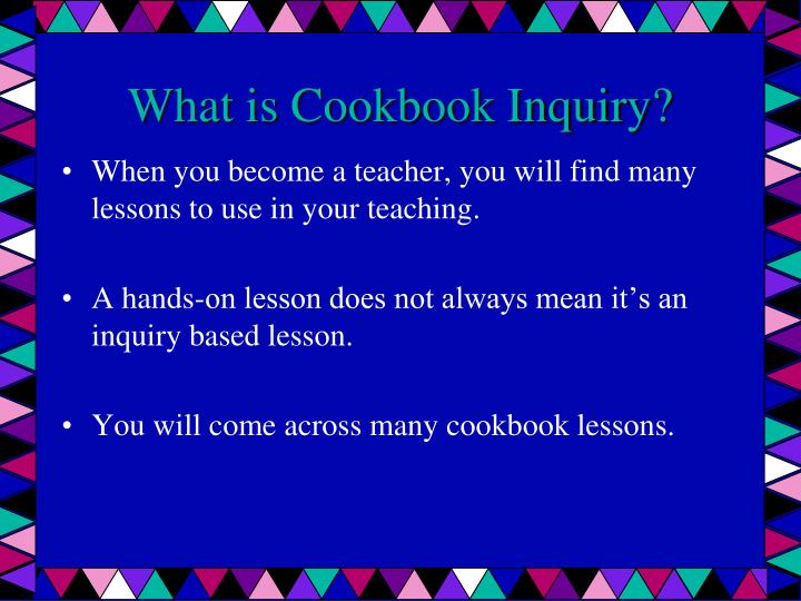 What is Cookbook Inquiry?