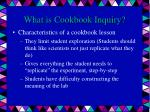what is cookbook inquiry1