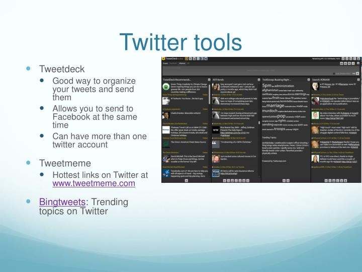 Twitter tools