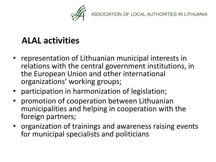 ALAL activities