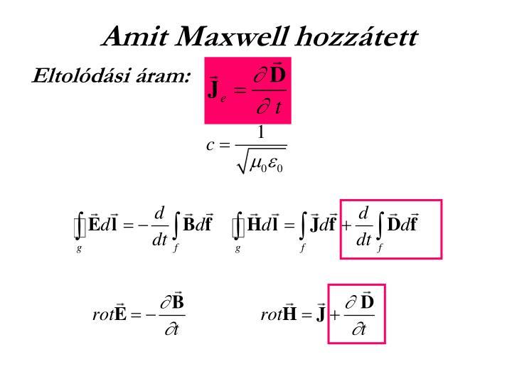Amit Maxwell hozzátett