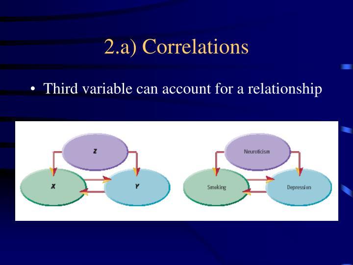 2.a) Correlations