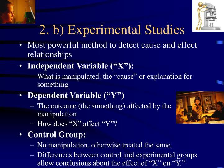 2. b) Experimental Studies