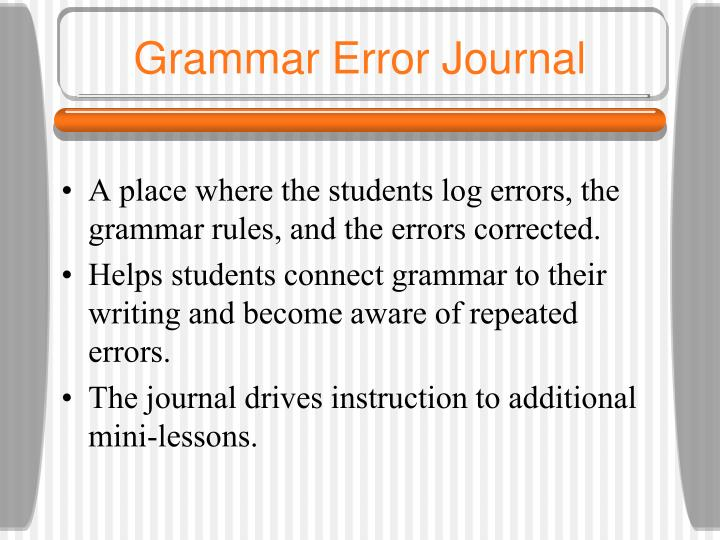 Grammar Error Journal