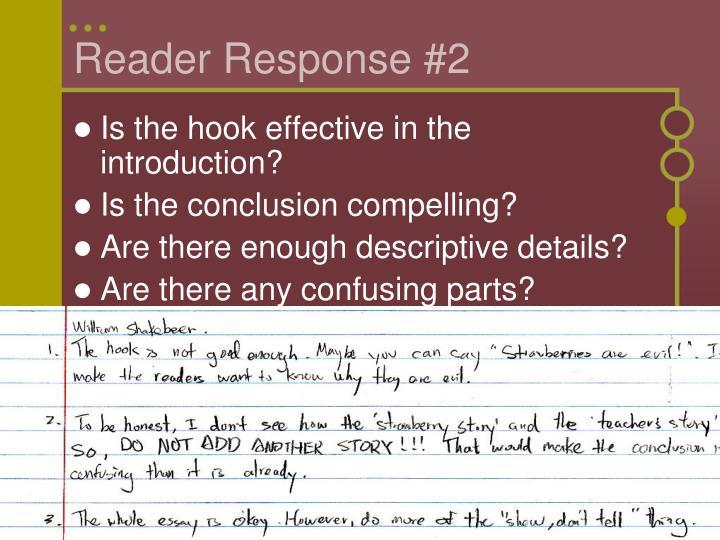Reader Response #2