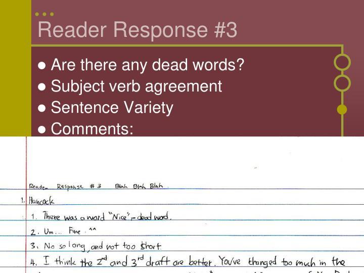 Reader Response #3