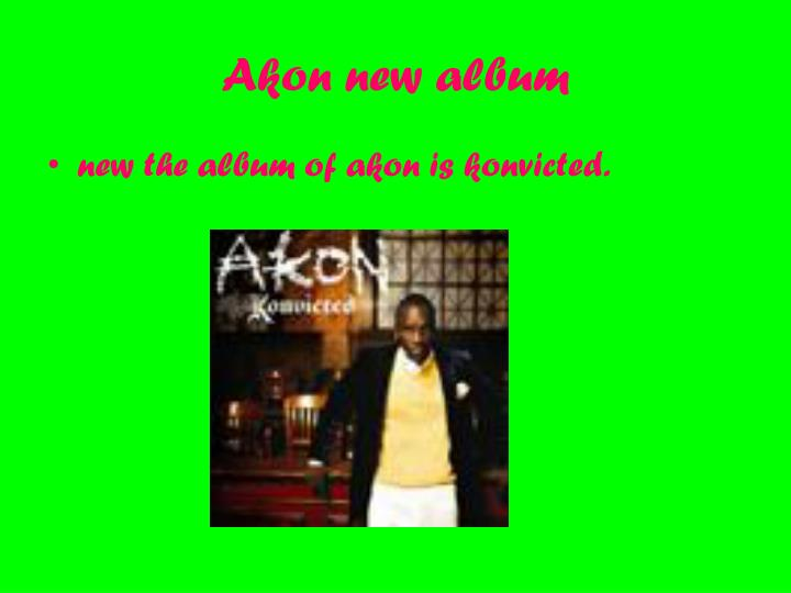 Akon new album
