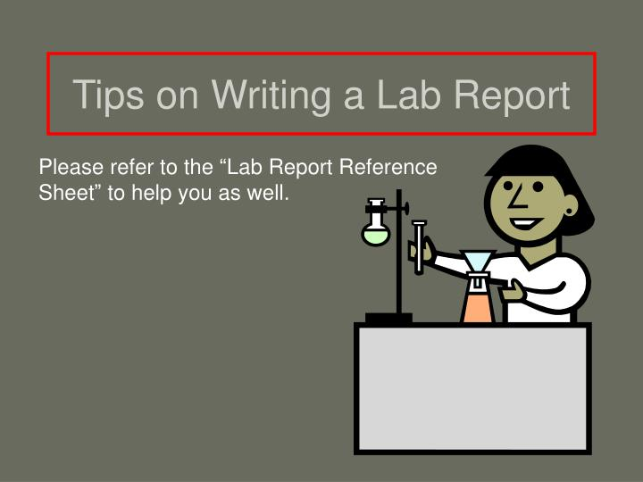 Writing a lab report help