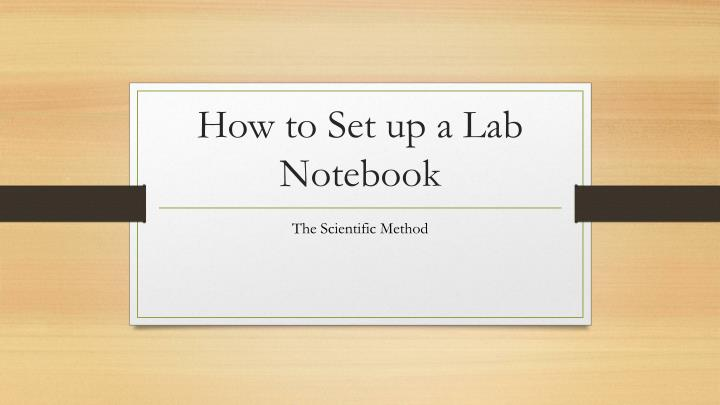 How to Set up a Lab