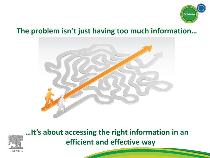 The problem isn't just having too much information…