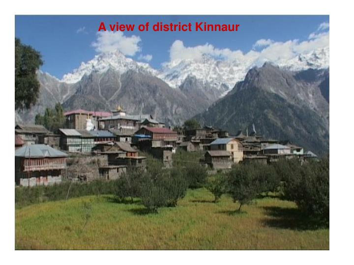 A view of district Kinnaur