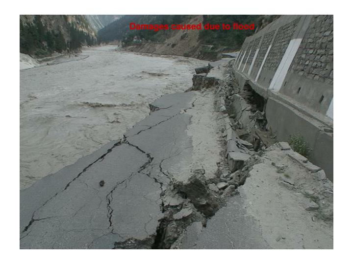 Damages caused due to flood